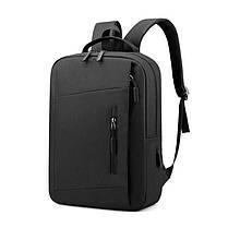 Lb Рюкзак городской  LP-1123 Black тканевый для ноутбука повседневная сумка
