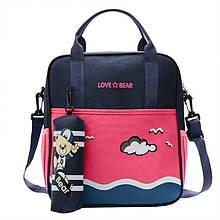 Дитячий сумка-рюкзак рюкзачок Love Bear 6327 Rose для школи саду підручників