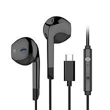 Lb Проводная гарнитура LANGSDOM V6T TYPE-C Black стерео наушники с микрофоном