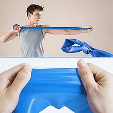 Стрічка еластична для фітнесу йоги Dobetters TPE Blue 1800*150*0.35 mm