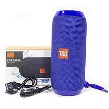 Колонка TG TG117 Blue вологозахист портативна з bluetooth бездротова