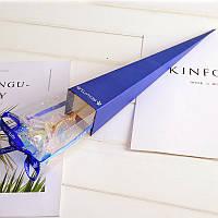 /\ Светящаяся Роза 24K KY-457 Blue покрытая фольгой подарок для девушки вечная роза ночник