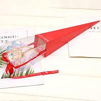 /\ Светящаяся Роза 24K KY-457 Red покрытая фольгой подарок для девушки вечная роза ночник