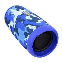 Портативна колонка Booms Bass L12 Blue Camouflage Блютуз 5.0 потужність 10 Вт Батарея 1200 маг