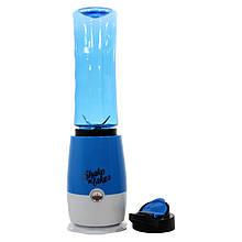 Портативний фітнес-блендер домашній Shake N Take 3 VT-06 Blue міні шейкер для приготування коктейлів та