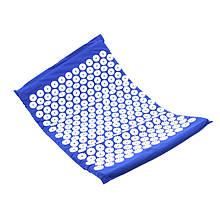 Килимок аплікатор кузнєцова для акупунктури Dobetters Blue масажер для спини