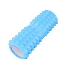 Масажний фітнес валик ролик Dobetters Spikes Roller Blue для йоги та фітнесу 33*13 см