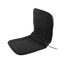 /\ Накидка на сиденье автомобиля с подогревом  TZ001 Black от прикуривателя 12 В