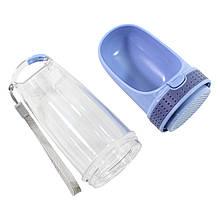 Поїлка-пляшка ємність для води для котів і собак Taotaopets LS-210 Blue 28*8см портативна прогулянкова