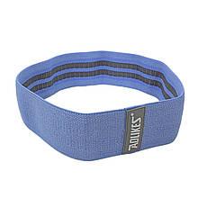 Гумка для фітнесу тканинна AOLIKES RB-3603 Blue L эластичнная середня