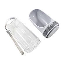 Поїлка-пляшка ємність для води для котів і собак Taotaopets LS-210 Grey 28*8см портативна прогулянкова