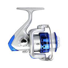 Lb Катушка безынерционная рыболовная для спиннинга yumoshi JL3000 с леской Silver-Blue