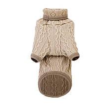 Светр для собак Hoopet HY-1186 Brown M весняно-осіння водолазка