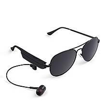 Lb Беспроводная блютуз гарнитура очки Gelete A8 Black для телефона музыки 110 mAh с наушниками Bluetooth 4.1