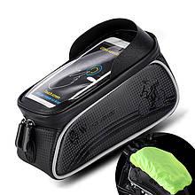 """Lb Велосипедная сумка на раму West Biking 0707205 Black для смартфона 6"""" бардачок для инструмента"""