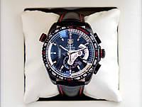 Tag Heuer carrera calibre 36 AAA часы спортивные мужские наручные кварцевые с хронографом на кожаном ремешке