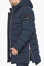 Модна чоловіча куртка зимова темно-синя модель 49023, фото 3