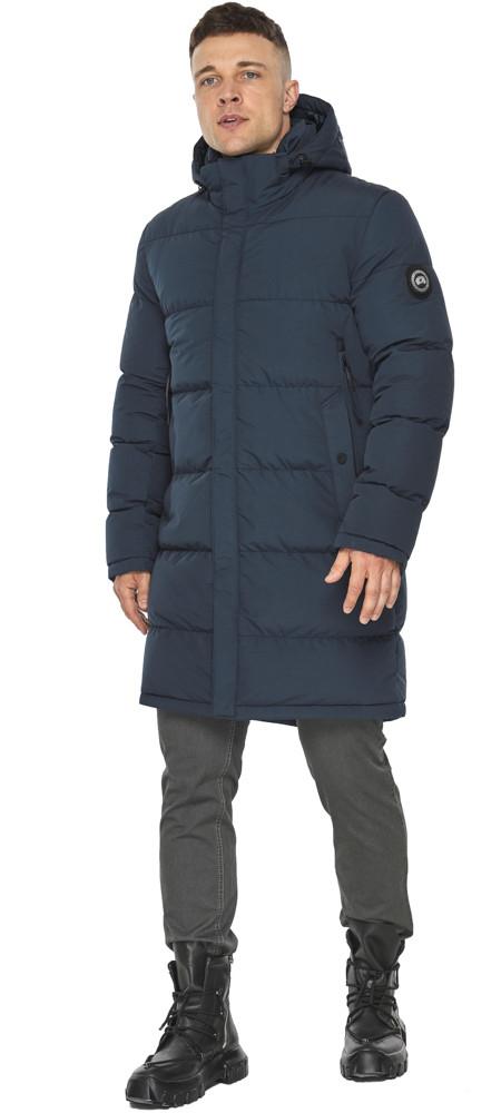 Мужская зимняя куртка тёмно-синего цвета модель 49990
