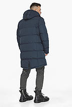 Чоловіча зимова куртка темно-синього кольору модель 49990, фото 2