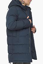 Чоловіча зимова куртка темно-синього кольору модель 49990, фото 3