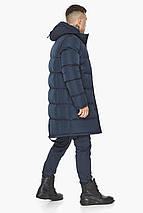 Чоловіча куртка на блискавці зимова темно-синя модель 49438, фото 2