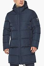 Чоловіча куртка на блискавці зимова темно-синя модель 49438, фото 3