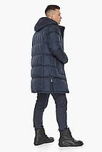 Мужская куртка фирменная зимняя тёмно-синяя модель 49880, фото 2