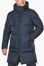 Мужская куртка фирменная зимняя тёмно-синяя модель 49880, фото 3