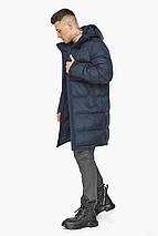Современная куртка для мужчин на зиму тёмно-синяя модель 49773, фото 3