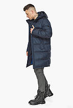 Сучасна куртка для чоловіків на зиму темно-синя модель 49773, фото 3