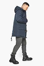 Куртка – воздуховик графітово-синій для чоловіків на зиму модель 30707, фото 2