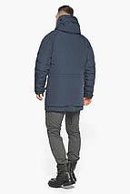 Куртка – воздуховик графітово-синій для чоловіків на зиму модель 30707, фото 3