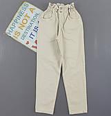 Брюки-слоучи для девочек,  6-10 лет. Артикул: M215-беж