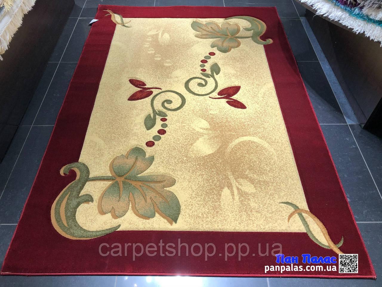 150х220 килим Panpalas 0012 бордовий на підлогу.