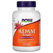 Супер Мультивитамины для Мужчин, Adam, Superior Men's Multi, Now Foods, 90 гелевых капсул