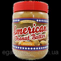 Арахісова паста з шматочками American crunchy 500g 6шт/ящ (Код : 00-00006071)
