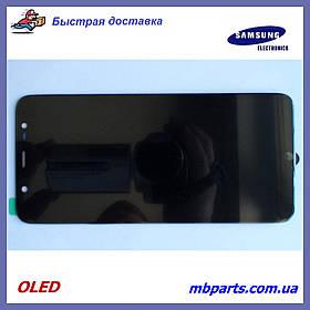 Дисплей с сенсором Samsung J810 Galaxy J8 2018 OLED Black !