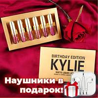 Набор жидких матовых помад Kylie Birthday Edition золото