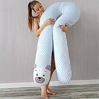Подушка для беременных, подушка обнимашка Подкова для кормления минки плюш