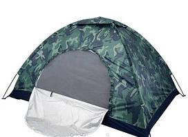Палатка туристична кемпінговий непромокаємий з антимоскітною сіткою Outdoor new tent 3 місцева зелена хакі