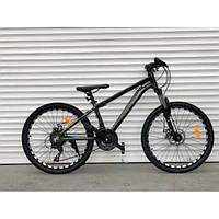 Спортивный велосипед TopRider-680 24 дюйма. Алюминиевый Суперлегкий. Дисковые тормоза. SHIMANO. Хаки, фото 1