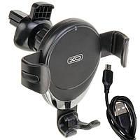 Холдер XO WX021 з бездротовим зарядним пристроєм (чорний)