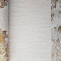 Шпалери флізелінові еко Galerie Metallic FX 0,53Х10 англія горизонтальні смужки розмиті золотисті молочні, фото 1