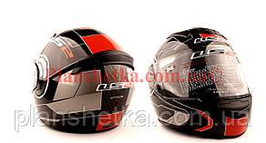 Шлем для мотоцикла LS2 FF 352 черно с красным глянец