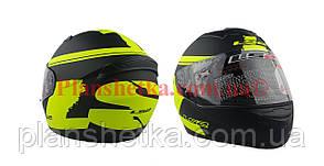 Шолом для мотоцикла LS2 FF 352 чорно із зеленим Мat