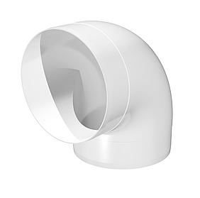 Колено круглое Эра пластиковое 90° 125 мм (60-431)