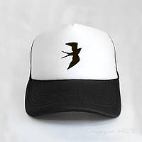 Кепка тракер черно белого цвета Swallow