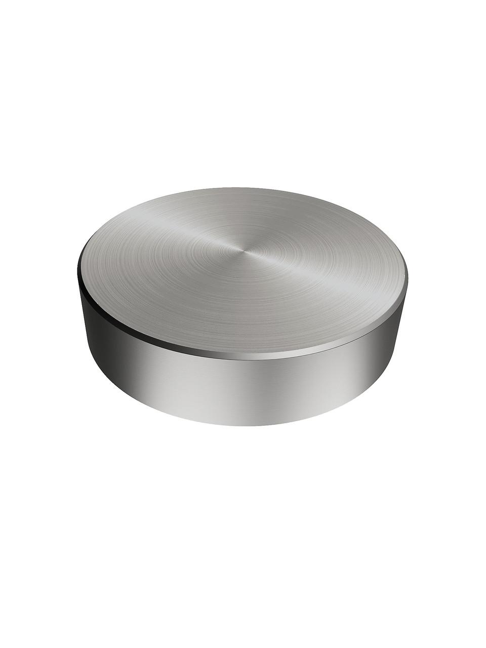 ODF-06-11-01 Коннектор круглый d40 М10, для крепления стекла, дистанционный стеклодержатель, сатин