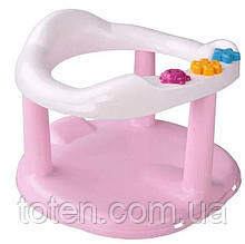 Детское сиденье для купания на присосках Стульчик для купания 6067 . Розовый