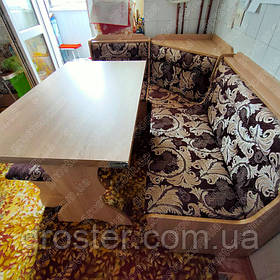 Кухонный уголок Кардинал с раскладным столом и 2 табурета